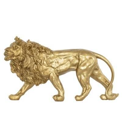 تحف طاولة شكل أسد ذهبي