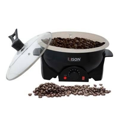 إديسون محمصة قهوة كهربائية أسود 800واط