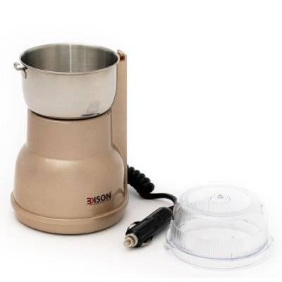إديسون مطحنة قهوة بشاحن سيارة ذهبي 250واط