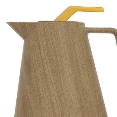 جلوري ترمس خشبي بيج 0.5 لتر ضغاط