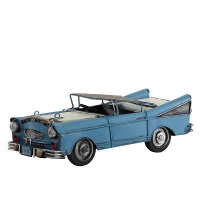 تحفة طاولة شكل سيارة أزرق كلاسيكي