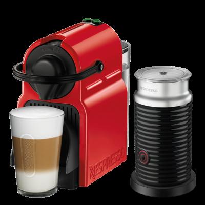 نسبريسو اينسيا مكينة قهوة مع خافق حليب إيروشينو أحمر