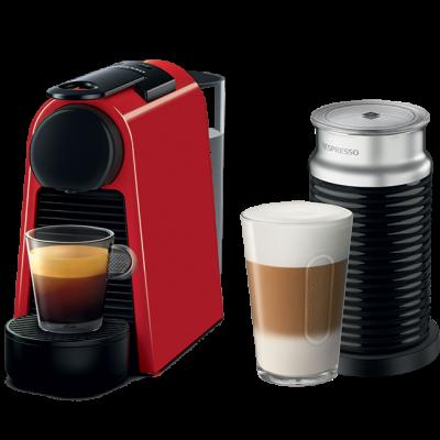نسبريسو الة صنع القهوة ورغوة الحليب أحمر