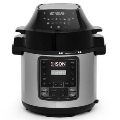 إديسون جهاز طبخ متعدد قلاية هوائية + قدر ضغط جرانيت 6 لتر